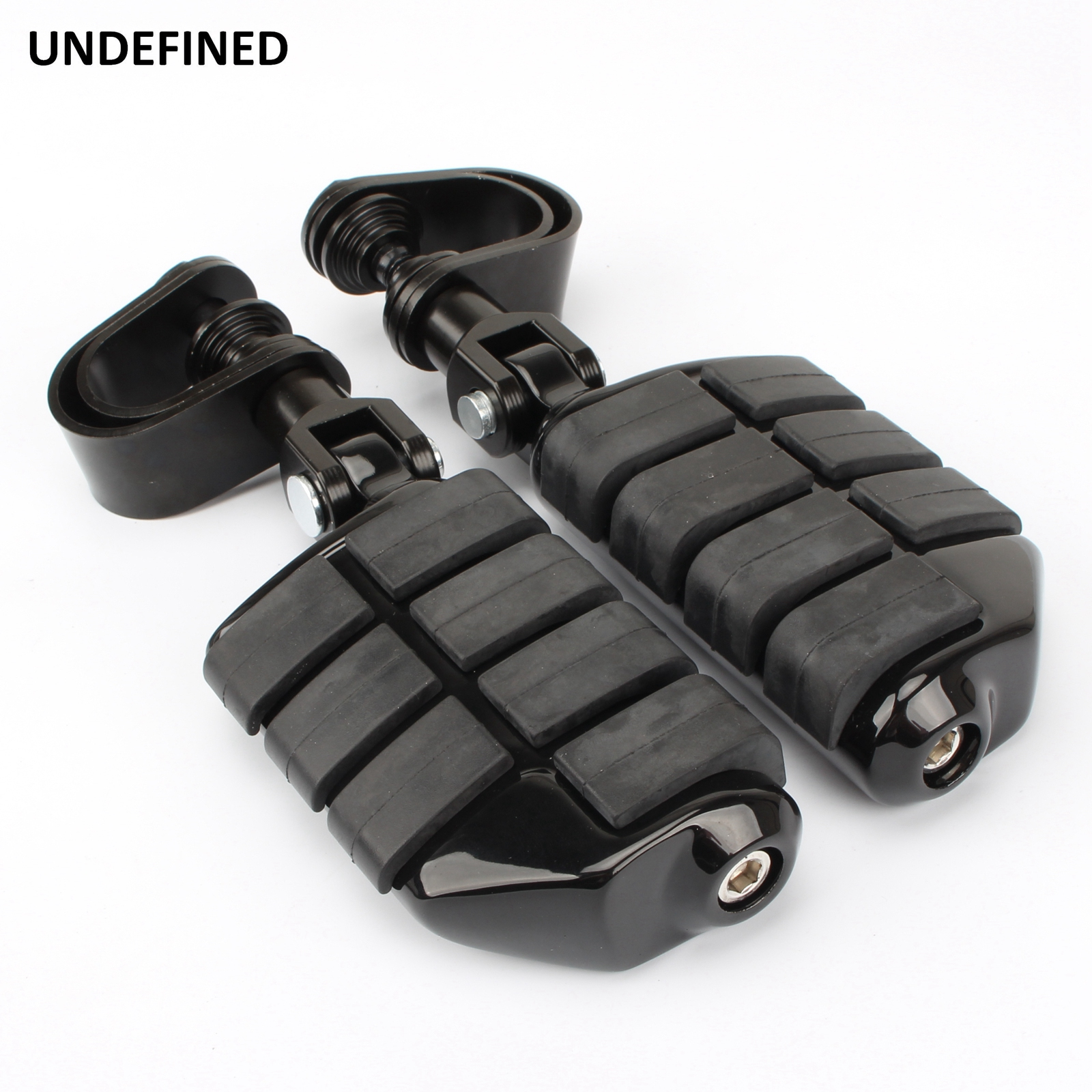 """Motorcycle Highway Pegs for Harley Electra Glide Road King Street Glide 1.25"""" Engine Guard Foot Peg Footrest Mount Clamp Kit"""