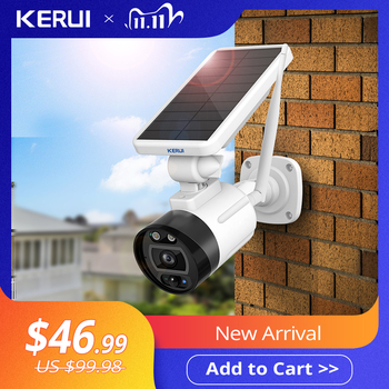 KERUI 1080P 2MP Solar Wireless Battery Camera WIFI Outdoor Security IP Camera Alexa Cloud IP66 Waterproof CCTV Surveillance