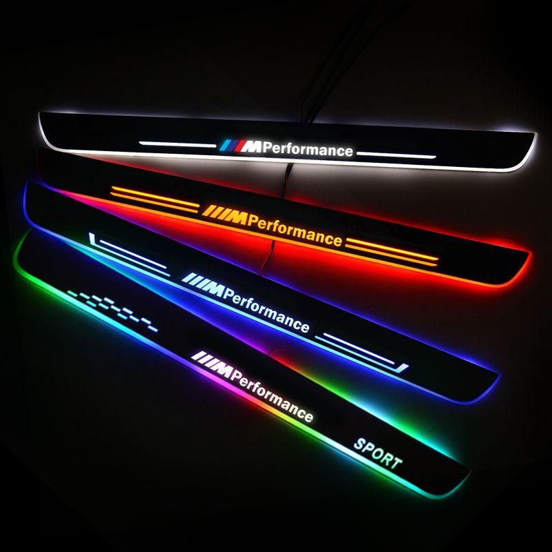 LED Door Sill Streamed For BMW 5 (E39) 1995-2003 Scuff Plate Acrylic Door Sills Car Sticker Accessories