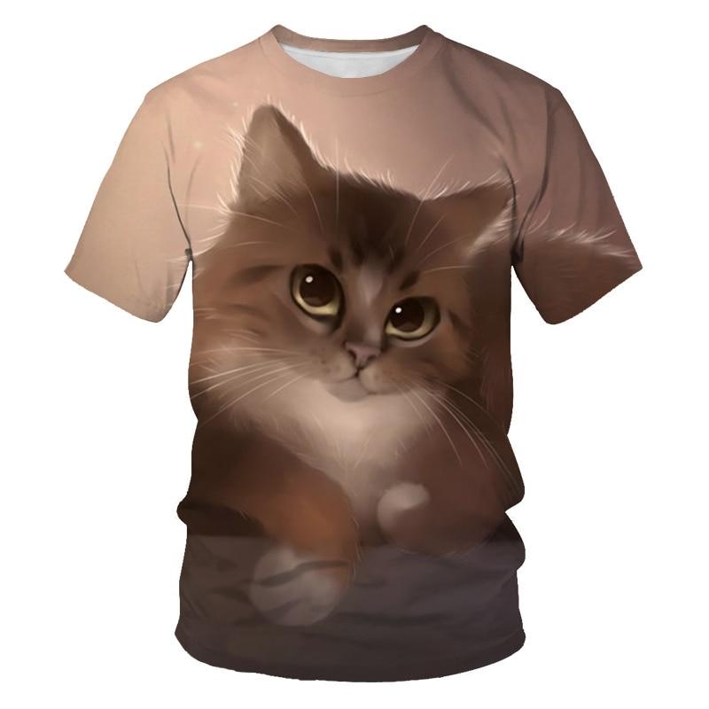 New Cute Cat T Shirt Women Casual Funny Cartoon Print Tshirt Harajuku Kawaii Fashion T-shirt Summer Short Sleeve Top Tees Female