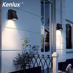Kenlux 3W 6W Led kinkiet nowoczesny kinkiet oświetlenie schodów oprawa salon łóżko sypialniane nocne oświetlenie zewnętrzne domu światło ogrodowe w Zewnętrzne lampy ścienne od Lampy i oświetlenie na