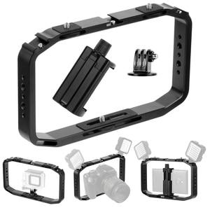 Image 2 - BGNing DSLR Video Rig Cage Handheld Smartphone Vlog Stabilizer Camera Cage for Gopro 8 7 6 for XiaoYI EKEN Sport Camera