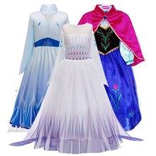 Nuevo conjunto de vestido Anna Elsa, disfraz de diosa de Aladdín Jasmine, vestidos infantiles para niñas, vestido de fiesta de princesa para niñas, Ropa para Niñas