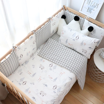 Baby Bedding Set Boy Girl Soft Cotton Kid Bed Linen Kit For Children Crib Bedding Baby Items For Room Decoration Custom Size baby bedding set for newborns soft cotton crib bedding set with bumper for girl bed linen for kid baby nursery decor custom made