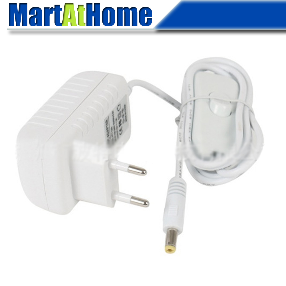 High Quality Power Adapter Input AC 100~240V Output <font><b>DC</b></font> 12V <font><b>2A</b></font> with Switch Button & 55*<font><b>21</b></font> Female Jack image
