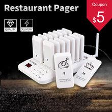 Retekess td157 restaurante pager buzzer chamada sem fio 16 coaster receptor para igreja enfermeira sistema de fila médica serviço mesa