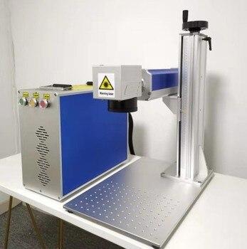 Fiber Laser Marking Machine With Rotary 30W Raycus Metal Engraving Machine