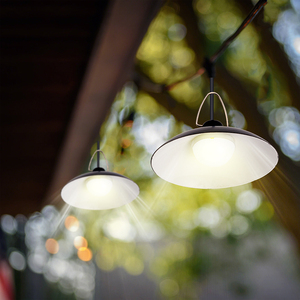 Image 2 - Lampa słoneczna LED żarówka sufitowa ganek słoneczny żyrandol z przewodem 9.8FT lampa słoneczna do oświetlenia ogrodu