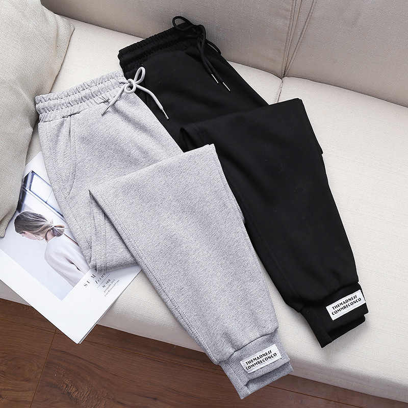Pants women loose sweatpants casual Cotton velvet trousers women pocket high waist autumn leisure wholesale vestidos WBX9913