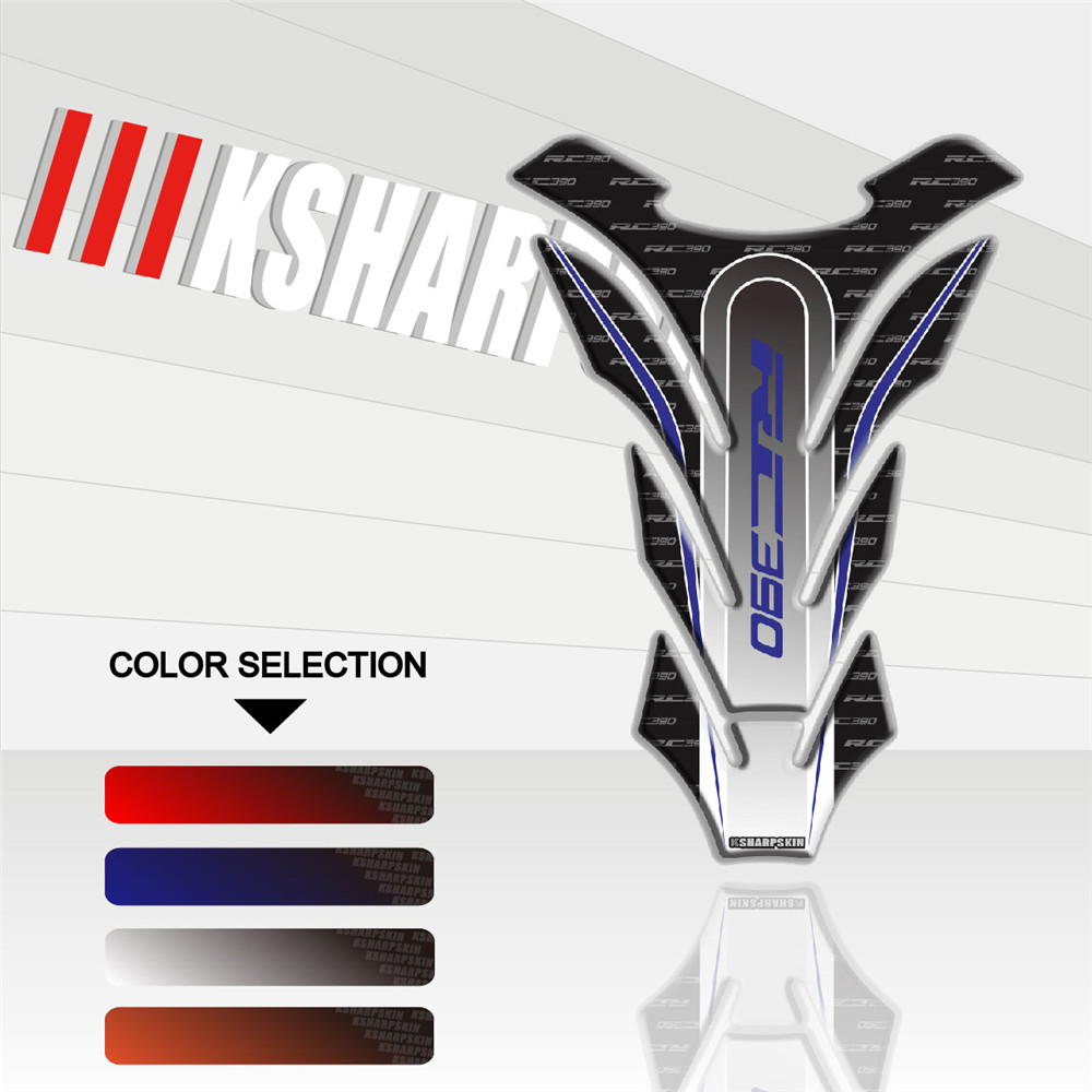New Motorcycle 3D Three-dimensional Decorative Personality Decal Fuel Tank Sticker Fish Bone Paste For KTM RC390