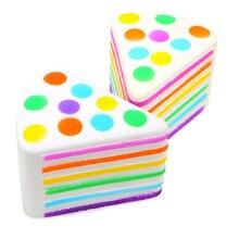 Детский многослойный торт Хлеб Мягкая игрушка красочная Радужная игрушка медленно поднимающаяся сжимающая антистресс