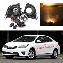 Для Toyota Corolla противотуманный светильник s головной светильник s галогенный противотуманный светильник для corolla Противотуманные фары головной светильник DRL противотуманный светильник