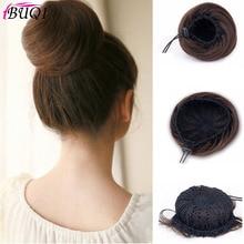 Buqi короткие прямые волосы булочка для взрослых женщин пончик Кольцо термостойкие синтетические модные аксессуары для волос