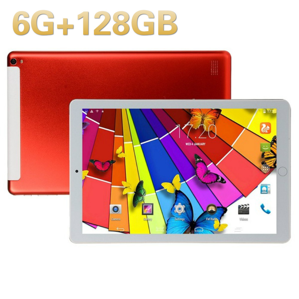 2020 Super 10 Inch Tablets Plus Android 8.0 Octa Core 6GB+128GB 1280*800 IPS Screen WIFI SIM 4G LTE Call Phone Tablet Pc 10.1