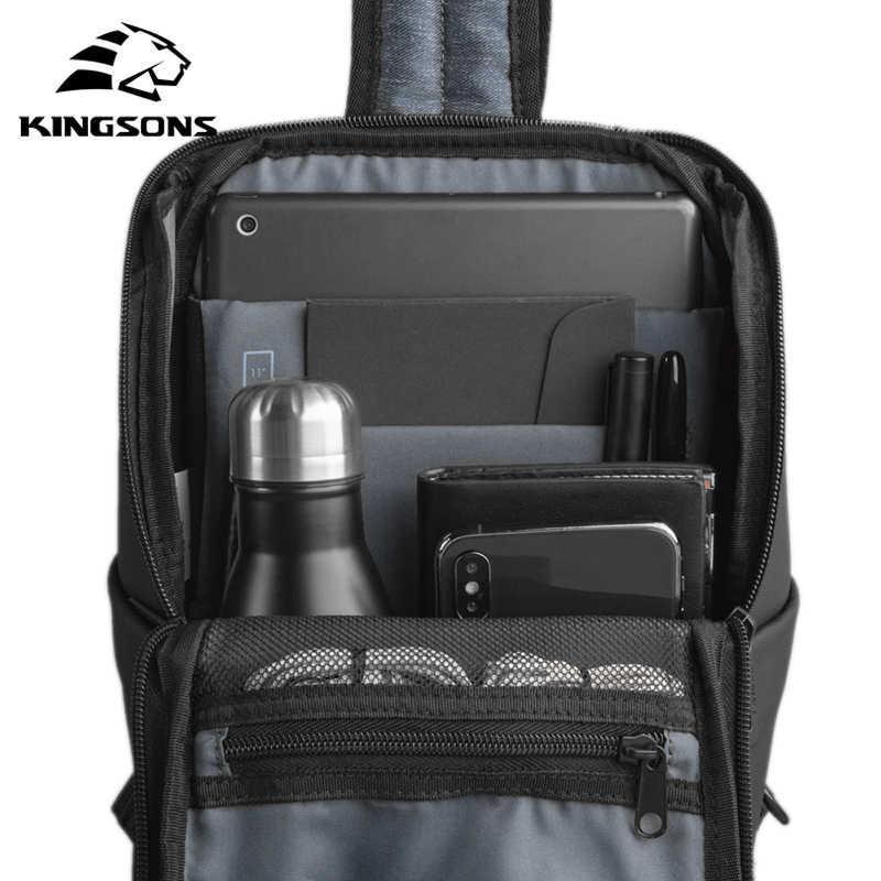Kingsons 2020 Gaya Baru Pria Fatshion Laptop Dada Tas Kapasitas Besar Tahan Air Tas Selempang untuk Remaja dan Pria