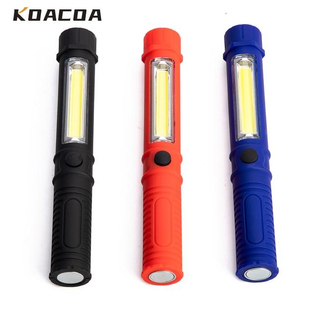 Портативный мини фонарик 1000 лм, рабочий осмотр, светодиодный фонарик COB, многофункциональный фонарик для технического обслуживания
