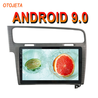 OTOJETA Android 9.0 2.5D Screen Car Radio Player For GOLF 7 Silver color AUX BT Multimedia Stereo GPS Navigation tape recorder
