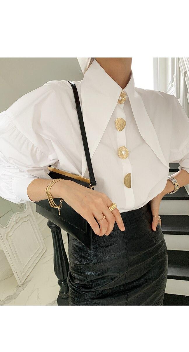 solta lanterna manga camisa feminina