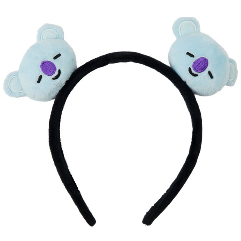 Kpop Cartoon Fashion Kpop Head Band Kawaii Band Bangtans Boys Korean Style Headbands Plush Hair Hoop Accessories Gift