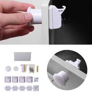 Magnetic Child Lock Baby Safety Cabinet Drawer Door Lock Children Protection Invisible Lock Kids Security 4/8/12Locks + 1/2 Key