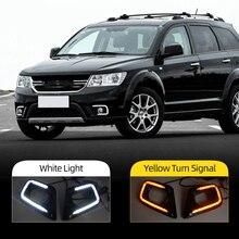 Clignotant de voiture, clignotant pour Fiat Freemont Dodge Journey 2014 2016, LED DRL, lumière de jour, clignotant de style automobile