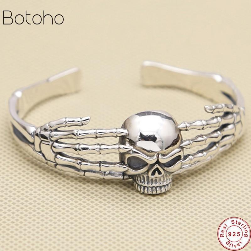 Gothic Skull Cuff Bangle Bracelet Men