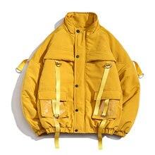 Ribbons Coats Casual Man Waterproof Winter Jacket Men Fashio