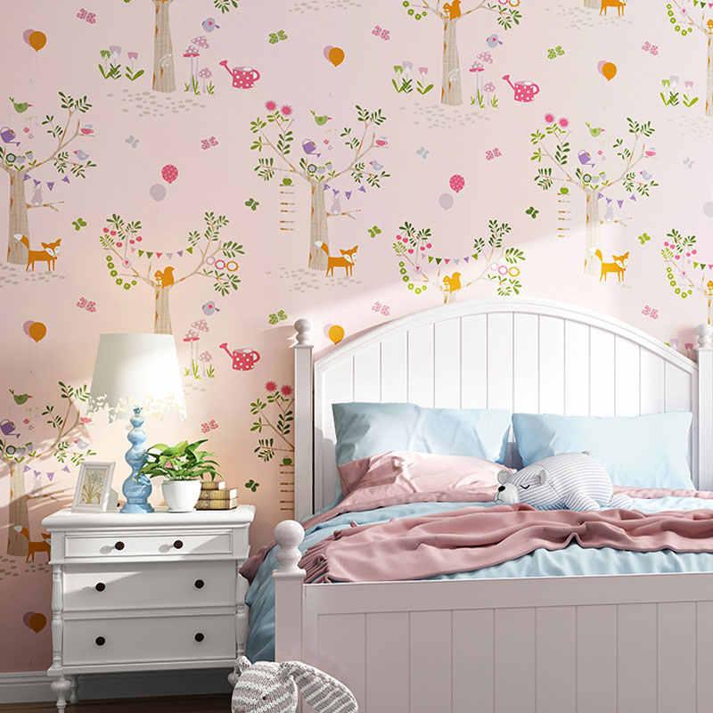 Nordic Forest Wallpaper For Children Bedroom Wallpaper Roll Non