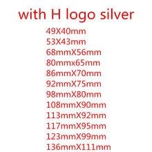 Adesivo de emblema para volante de carro, adesivo em abs, cromado para frente, porta-malas traseiro, emblema, 1 peça