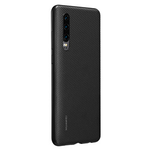 Image 2 - Huawei P30 Case From Huawei Official Original Leather Protecive Cover Carbon / Canvas Fiber Business Style Huawei P30 case
