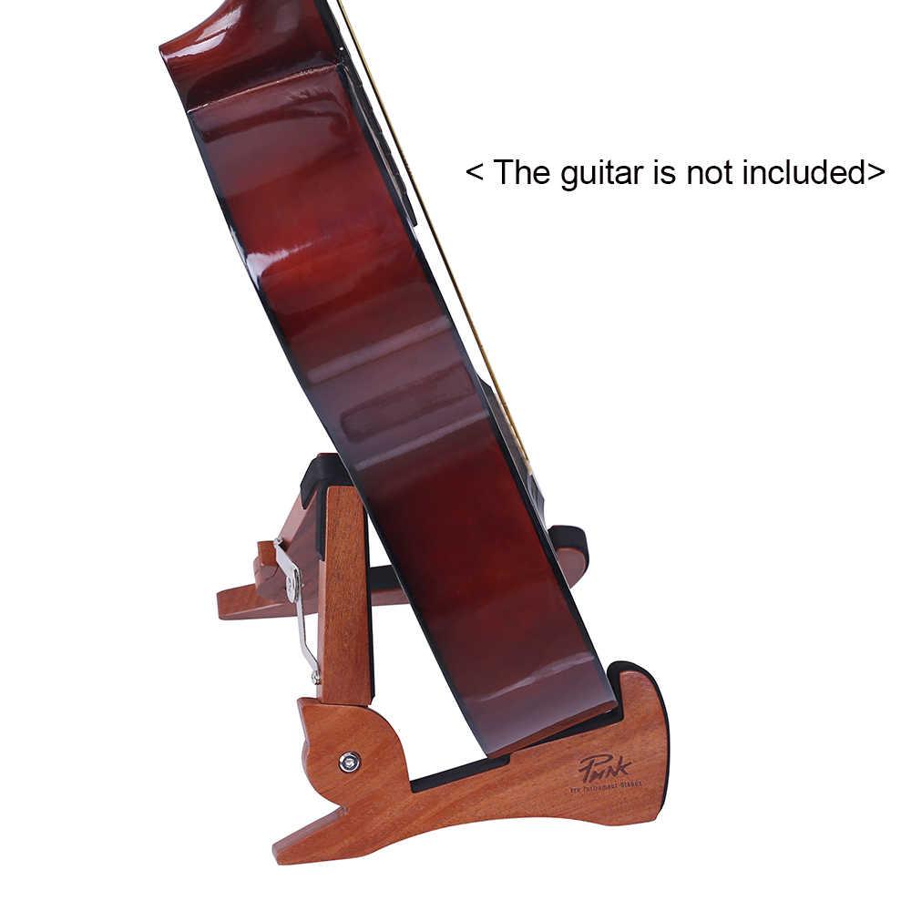 العالمي طوي حامل جيتار حامل الماهوجني خشب متين سلسلة أداة قوس لطيف أرنب شكل للكهرباء أجزاء الغيتار