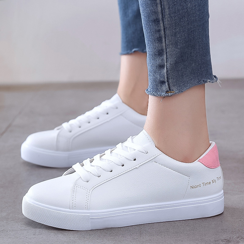 2020 White Sneakers Hot Women Vulcanize Shoes Wild Women Shoes Casual Sneaker Trainers Women Flats Sneakers Shoes Tenis Feminino