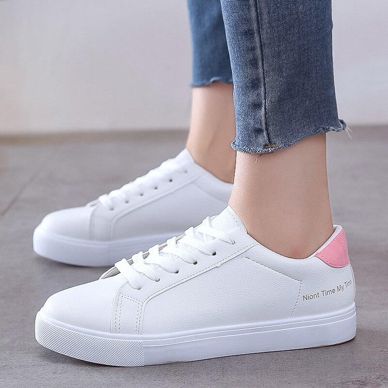 2020 White Sneakers Hot Women Vulcanize Shoes Wild Women Shoes Casual Sneaker Trainers Women Flats Sneakers Shoes Tenis Feminino