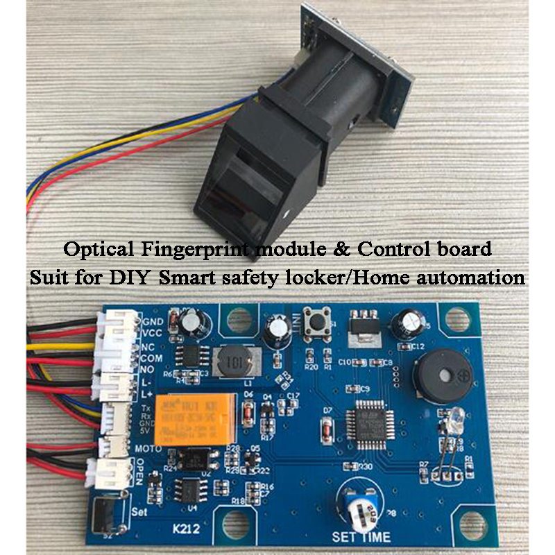 DIY Biometric Fingerprint Lock Access Control System Smart Safty Box Home AutomationFingerprint Module Control Board