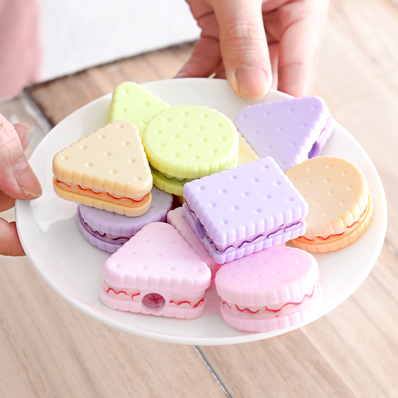 1 Pcs Lytwtw's Cute Cookie Mechanical Sharpener For Pencil School Office Supplies Creative Stationery Item Back To School Lovely