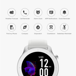 Image 4 - Global Version New Amazfit GTR 42mm Smart Watch 5ATM waterproof Smartwatch 12 Days Battery Music Control For Android IOS