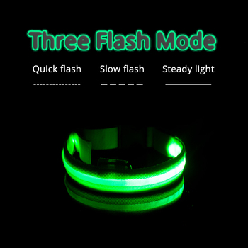 USB Charging Led Dog Collar Anti-Lost/Avoid Car Accident Collar For Dogs Puppies Dog Collars Leads LED Supplies Pet Products 3