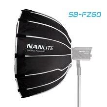 を Nanguang SB FZ60 60 センチメートル用 Nanguang フォルツァ 60 ライト傘の写真撮影ライトソフトボックスボーエンマウントラウンド