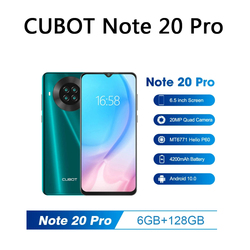 Cubot Note 20 Pro смартфон 8 ГБ + 128 ГБ 6,5 дюймов 4200 мАч Android 10 Quad Camera мобильный телефон NFC Dual SIM телефон 4G мобильный телефон