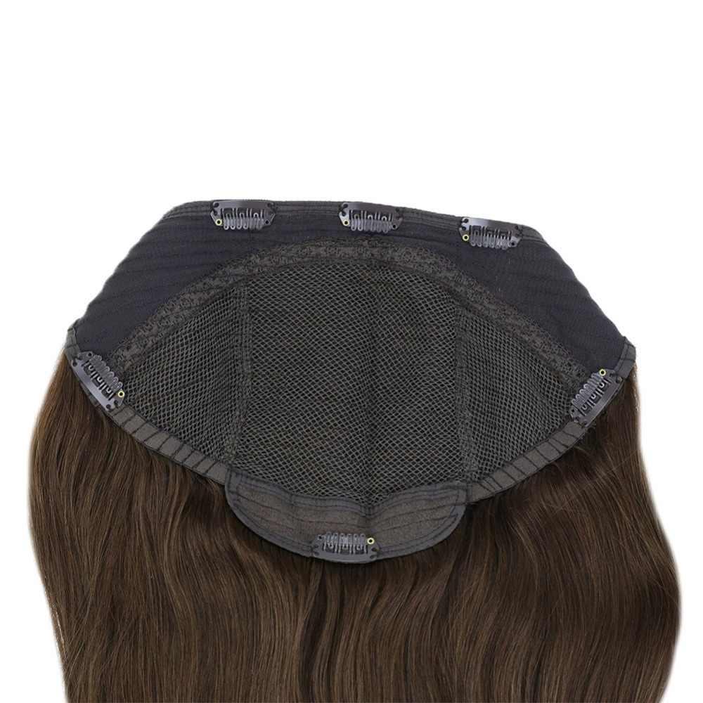 كامل تألق U جزء شعر مستعار كليب في كامل رئيس قطعة واحدة ملحقات مستقيم آلة صنع تمديدات شعر ريمي بلون نصف باروكة