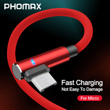 PHOMAX Micro USB Cable LED fast Charging Data for Samsung s9 8 xiaomi/lenovo/huawei Meizu Android Mobile Phone
