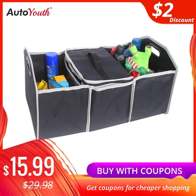 AUTOYOUTH Car Trunk Storage Box Foldable Storage Box Multi-Functional Car-Shaped Luggage Car Interior Storage Box