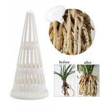 Пластиковый горшок для растений и цветов, дренажная крышка с высоким гидрофобным покрытием, Белый Сад d3