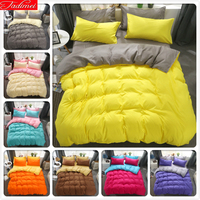 Yellow Grey Duvet Cover Sheet Quilt Pillow Case 3pcs/4pcs Bedding Sets Kids Child Soft Cotton Bed Linens Single Queen King Size