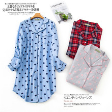Womens Plus Size Nightdress 100% Brushed Cotton Nightgown Flannel Boyfriend Nightshirt Autumn Winter Print Cartoon Sleepwear