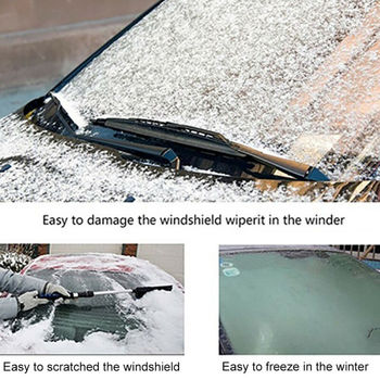 Universal Car Windshield Snow Cover Winter Ice Frost Guard Sunshade Protector Weather Proof Winter Appliances Auto Accessories 3