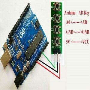 Image 5 - 10 шт с UNO MEGA2560 пример кода! 3,3 V 5V 4 кнопки 1 аналоговый выход AD Клавиатура Кнопка для Arduino