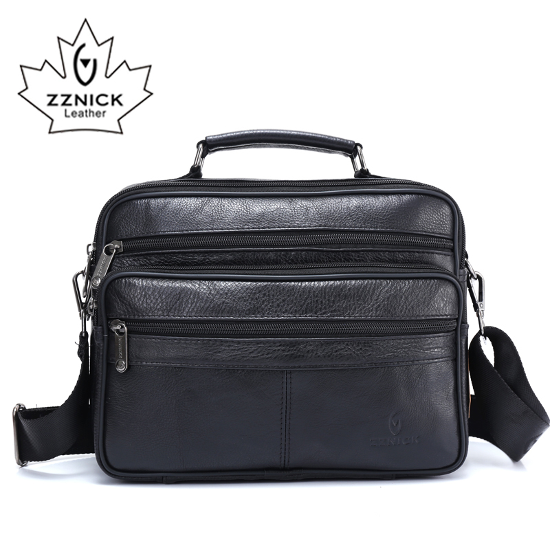 ZZNICK Genuine Cowhide Leather Shoulder Bag 2020 Men Travel New Fashion Men Bag Messenger Bags Flap Crossbody Bag Handbags