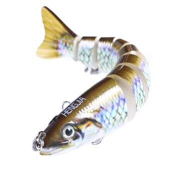 13,6 cm 19g hundimiento Wobblers señuelo para pesca Wobbler Multi articulado Swimbait 8 segmentos cebo duro hacer curricán Deep Diving señuelo Bass