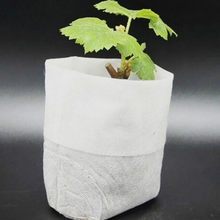 fashion simple Non-woven Nursery Bags Plant Grow Bags Fabric Seedling Pots Eco-Friendly Aeration Planting Bags hot sale(China)